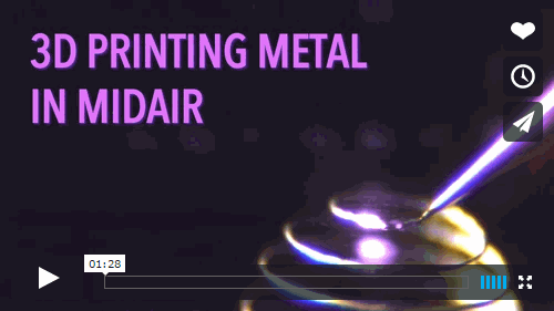 In this video, see the laser-assisted method developed by Wyss Core Faculty member Jennifer Lewis that allows metal to be 3D printed in midair. Credit: Lewis Lab / Wyss Institute at Harvard University