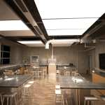 Ceiling panel cooling system uses up to 70 percent less electricity