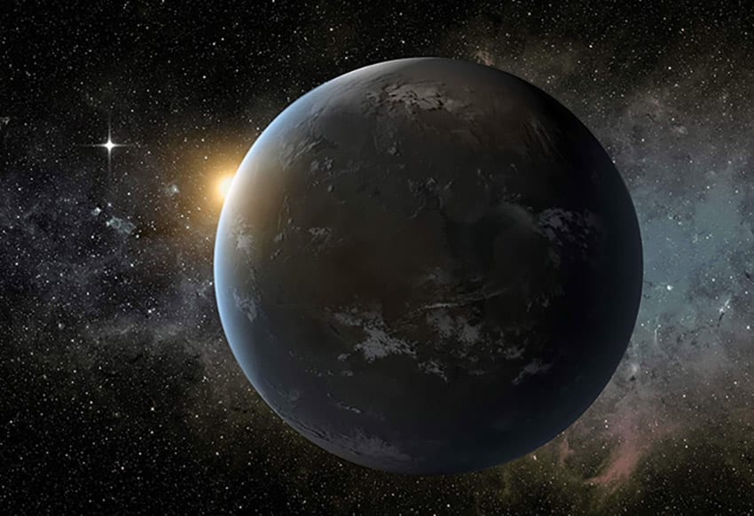 Searching for signs of life in the habitable zone on exoplanet Wolf 1061