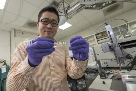 Inexpensive mass production of smart and stretchable fabric at almost any size