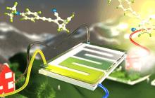 Efficient solar energy storage in a chemical liquid