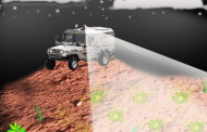 Using lasers and bacteria to remotely map the location of buried landmines and unexploded ordnance