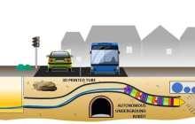 Autonomous underground excavation robot with intelligent navigation for urban environments