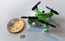 Tiny chip helps miniature drones the size of a honeybee navigate