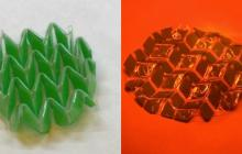 Shape-shifting material uses heat and light to morph and even reverse itself