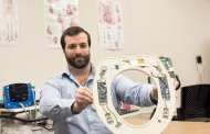 A toilet seat that can detect congestive heart failure gets ready to be seated