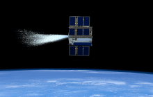 Cube-sats working together in space