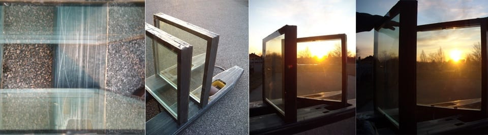 Water-filled glass panel prototypes