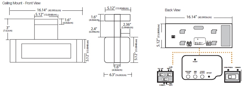 Digital Display LED Clocks Specifications