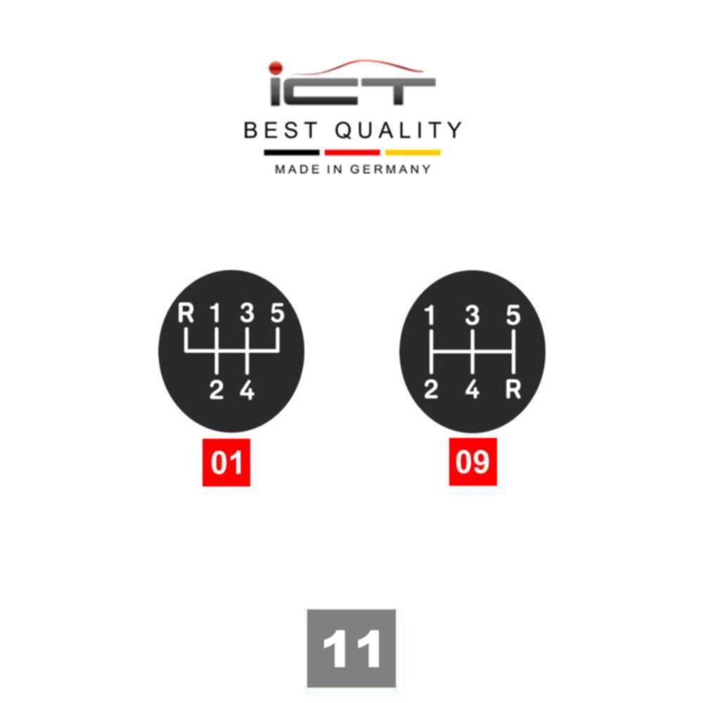 ICT Schaltknauf Schaltsack Leder Opel Astra G Coupe Cabrio