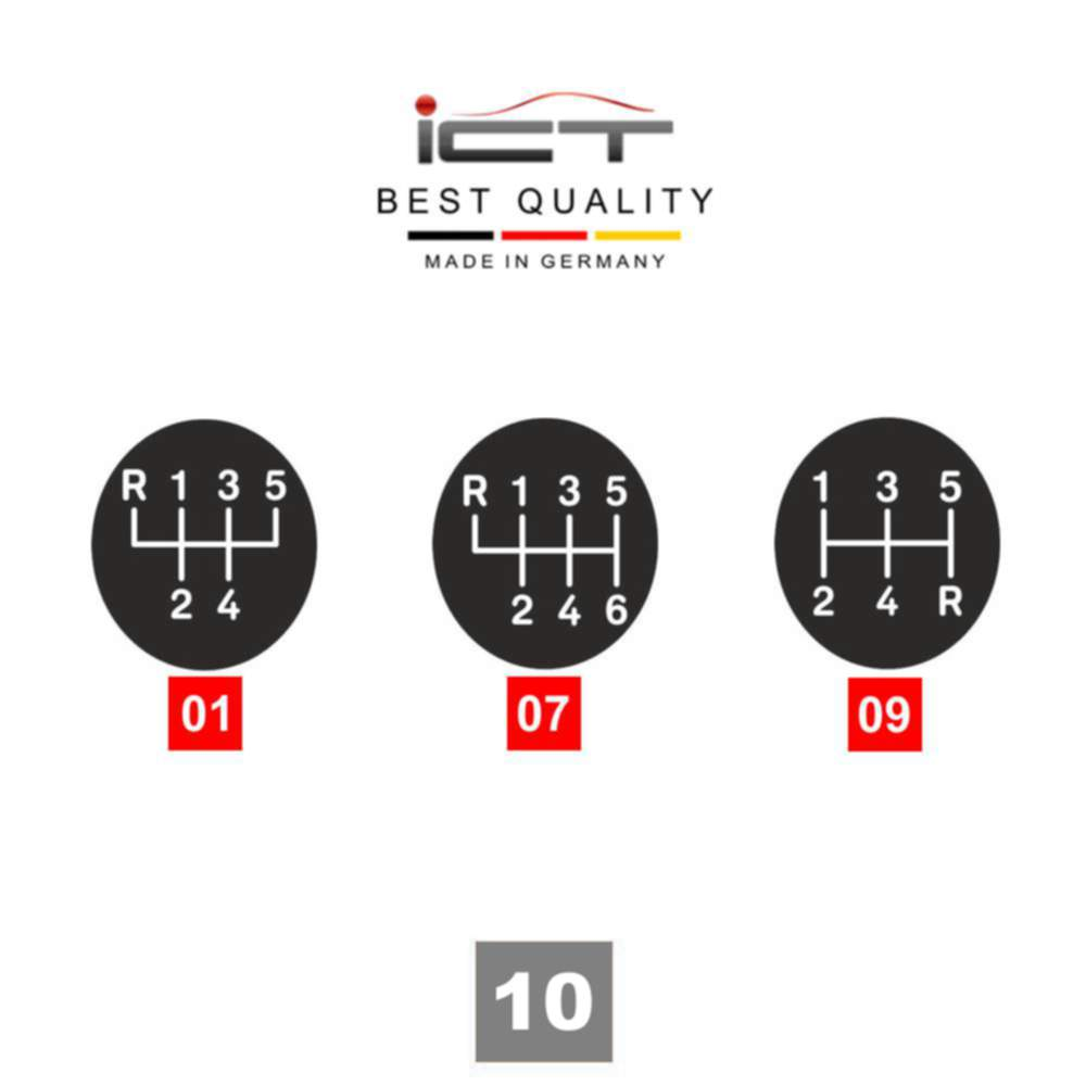 ICT shift gear knob gaiter 100% leather VW Polo 5 V Typ 6R