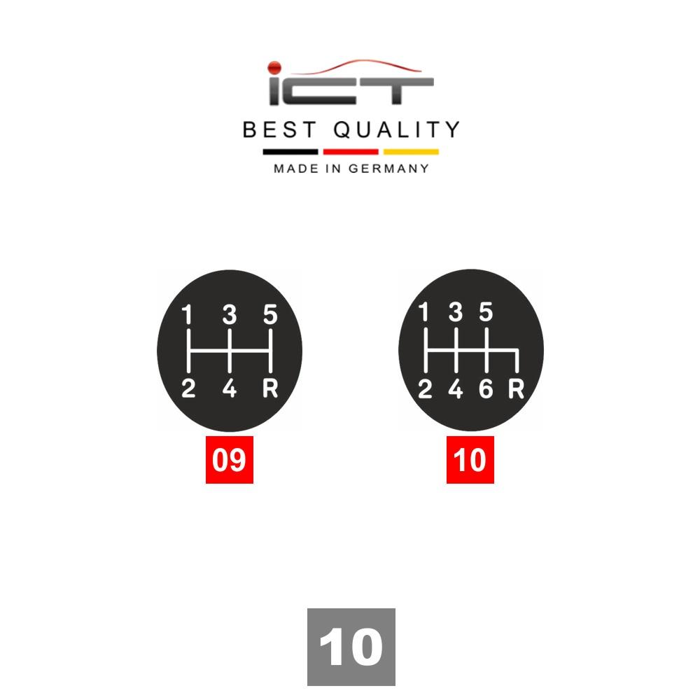 Leather ICT gear shift knob LED gaiter Ford Focus MK2