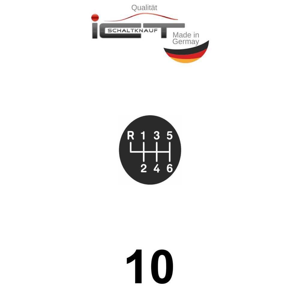 Original ICT leather gear shift knob Renault Megane III 3