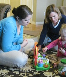 Client receiving Early Intervention Services
