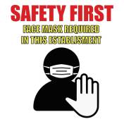 "12""x12"" Safety First (Wall, Floor, Window) 019"