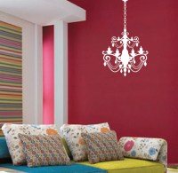 Chandelier Wall Decal with extra Chain #1155 ...