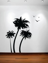Palm Coconut Tree Wall Decal with Birds (3 trees) #1132 ...