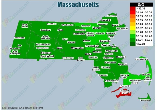 MA gas prices 09.15