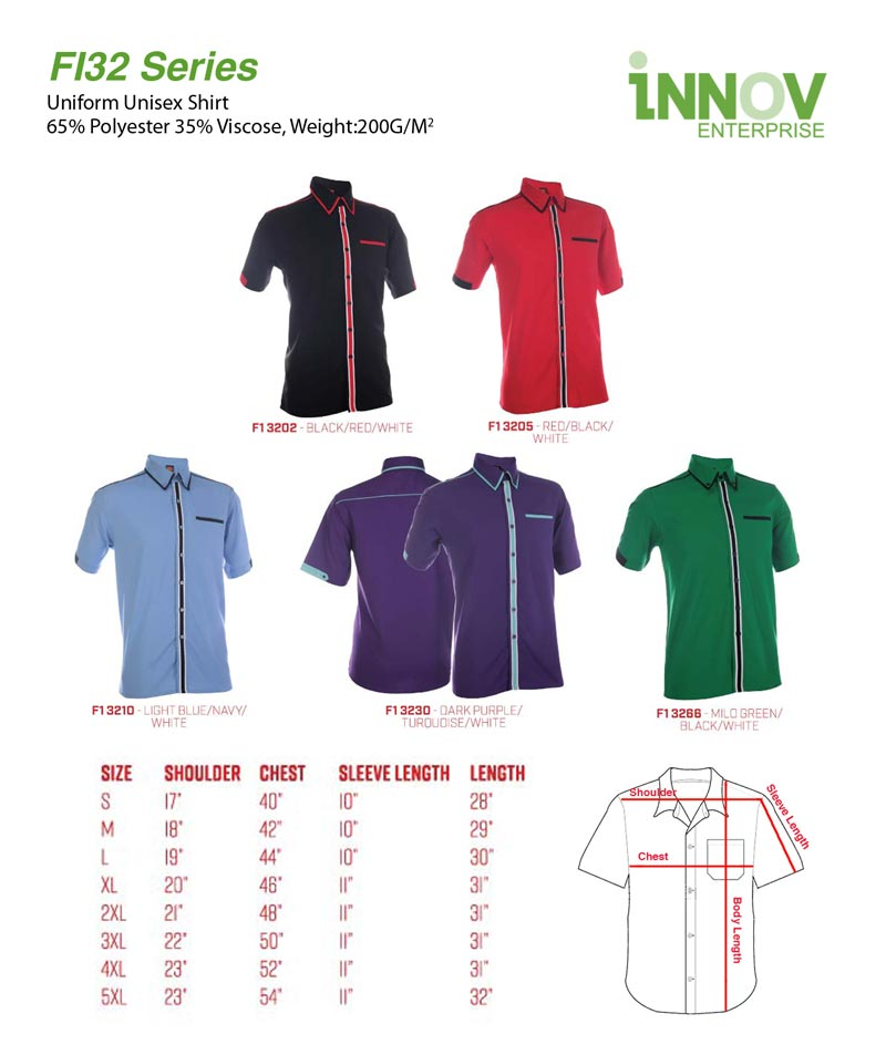 1ebc00c0c9c FI32 Uniform Shirt Series - Innov Enterprise