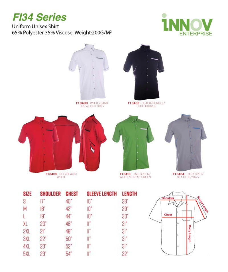 860bb3a7246 FI34 Uniform Shirt Series - Innov Enterprise