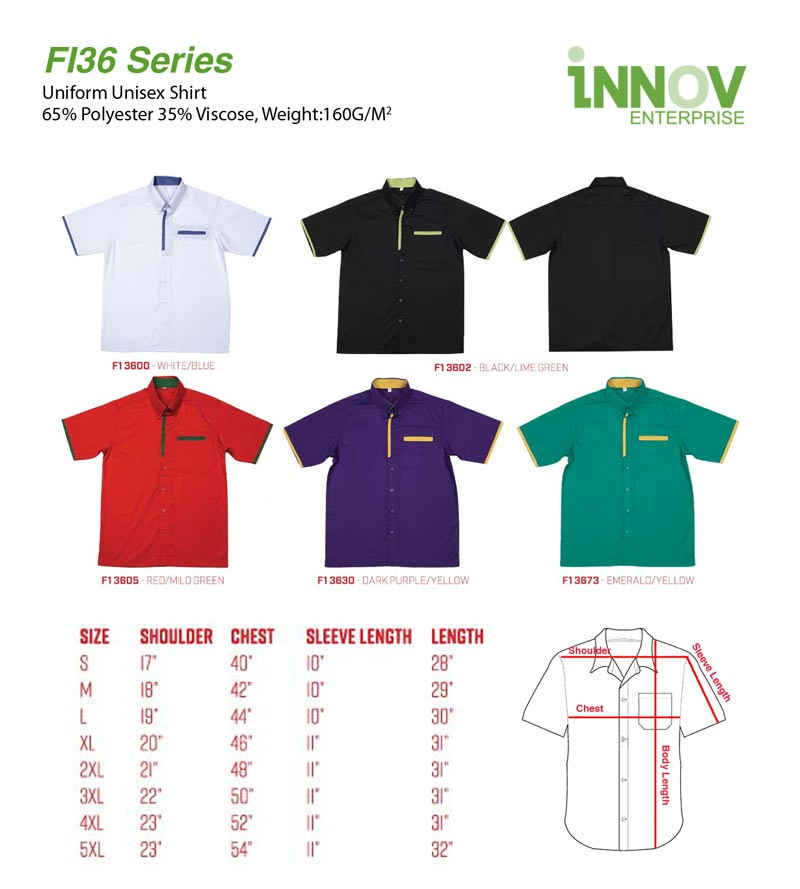 20360e2e90c FI36 Uniform Shirt Series - Innov Enterprise