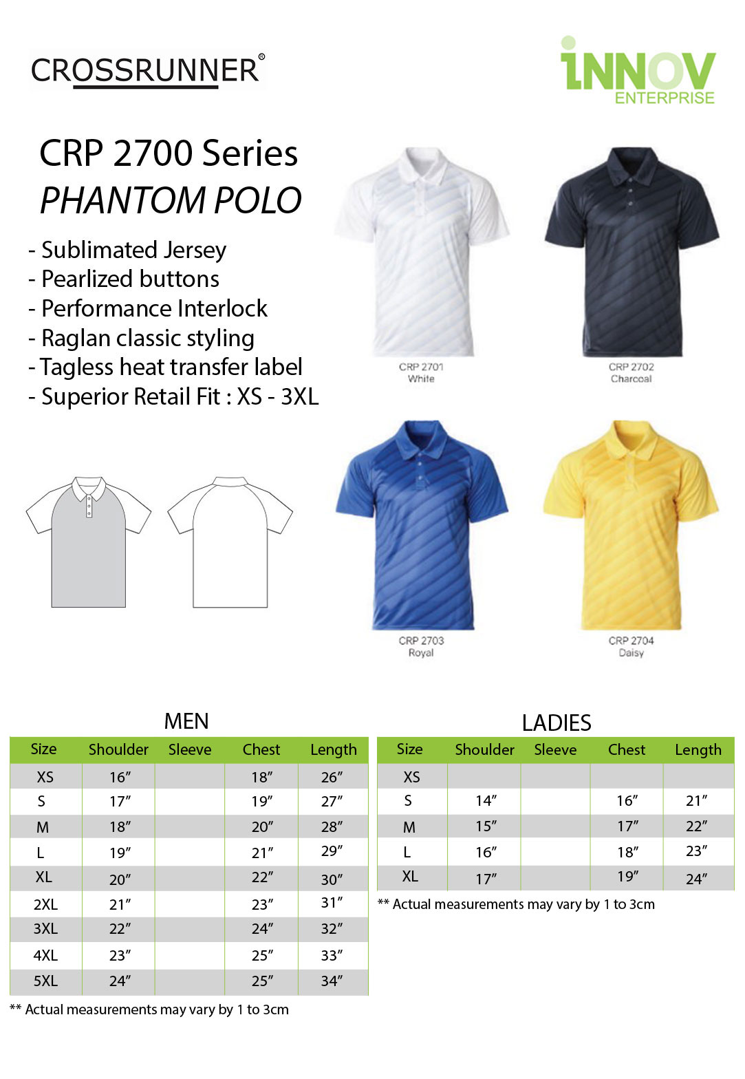5041d78a CRP-2700-Phantom-Polo. - Innov Enterprise | Online Printing Shop & T-Shirts  & Gifts Service Provider