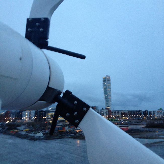 View from the wind turbine level