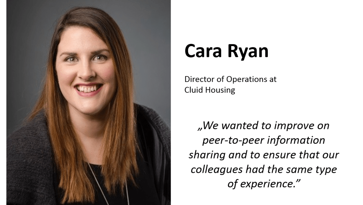 Cara Ryan, Director of Operations at Cluid Housing