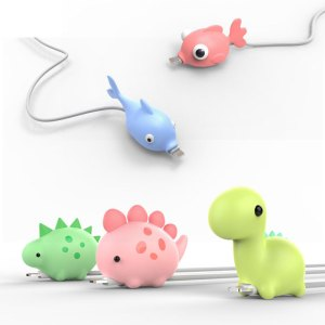 1Pcs Cute Animal Cable Protector Cord Wire Cartoon Protection Mini Silicone Cover Charging Cable Winder For Innrech Market.com