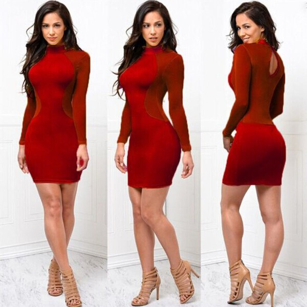 2018 New Women Sexy Skinny Bodycon Long Sleeve Sheer See Through Party Slim Club Wear Casual 2 2018 New Women Sexy Skinny Bodycon Long Sleeve Sheer See Through Party Slim Club Wear Casual Short Mini Dress