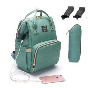 2019 Baby Diaper Bag With USB Interface Large Capacity Waterproof Nappy Bag Kits Mummy Maternity Travel Innrech Market.com