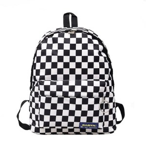 2019 Hot Sale Women Men Unisex Lattice Backpack New Trend checkerboard Teenager School Bag Couples Back Innrech Market.com