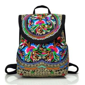 2019 NEW Vintage ethnic style backpack fashion embroidery flower backpack travel shoulder bag Innrech Market.com