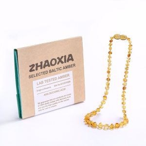 Baltic Amber Teething Necklace Bracelet for Baby Gift Box 10 Colors 5 Sizes Lab Tested Innrech Market.com