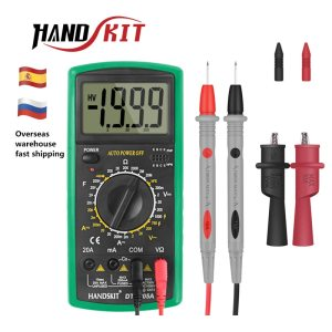 Handskit Multimeter AC DC Digital Multimeter Professional Tester Meter Voltmeter Digital LCD Display 2000 counts Meter Innrech Market.com