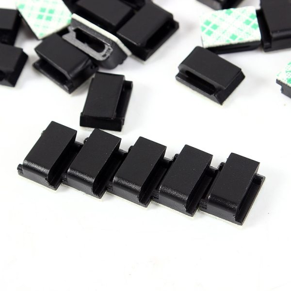 Hot 10Pcs lot Hole Plastic House Car Wire Cord Cable Winder Wrapper Pasted Flat Cable Holder 2 Hot 10Pcs/lot Hole Plastic House Car Wire Cord Cable Winder Wrapper Pasted Flat Cable Holder Tie Clips Fixer Organizer Winder