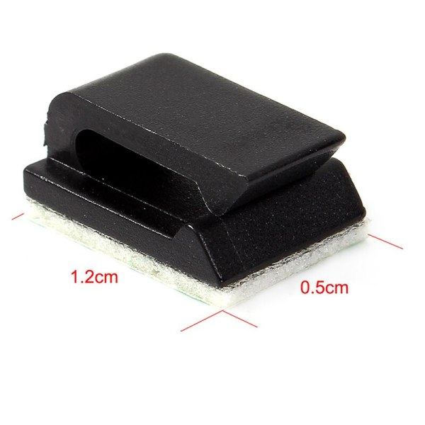Hot 10Pcs lot Hole Plastic House Car Wire Cord Cable Winder Wrapper Pasted Flat Cable Holder 5 Hot 10Pcs/lot Hole Plastic House Car Wire Cord Cable Winder Wrapper Pasted Flat Cable Holder Tie Clips Fixer Organizer Winder