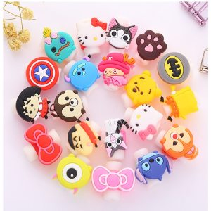 Lovely Cartoon Charger Cable Winder Protective Case Saver 8 Pin Data line Protector Earphone Cord Protection Innrech Market.com