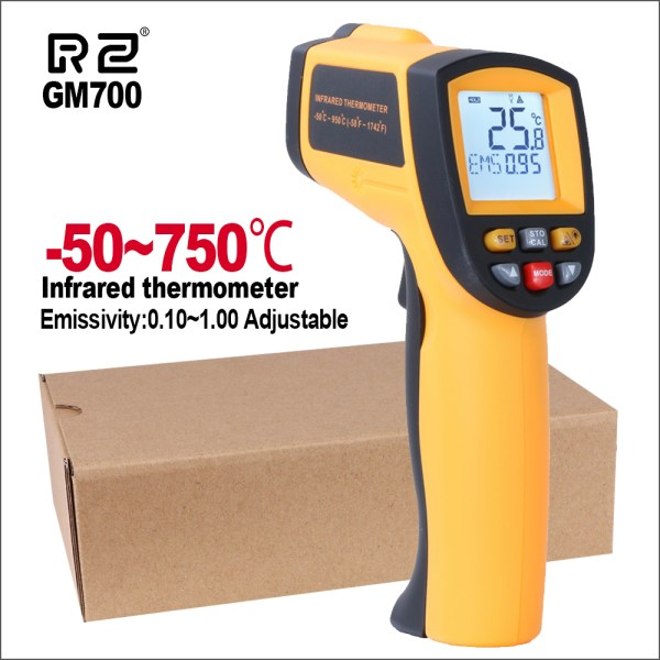 RZ IR Infrared Thermometer Thermal Imager Handheld Digital Electronic Outdoor Non Contact Laser Pyrometer Point Gun 1 RZ IR Infrared Thermometer Thermal Imager Handheld Digital Electronic Outdoor Non-Contact Laser Pyrometer Point Gun Thermometer