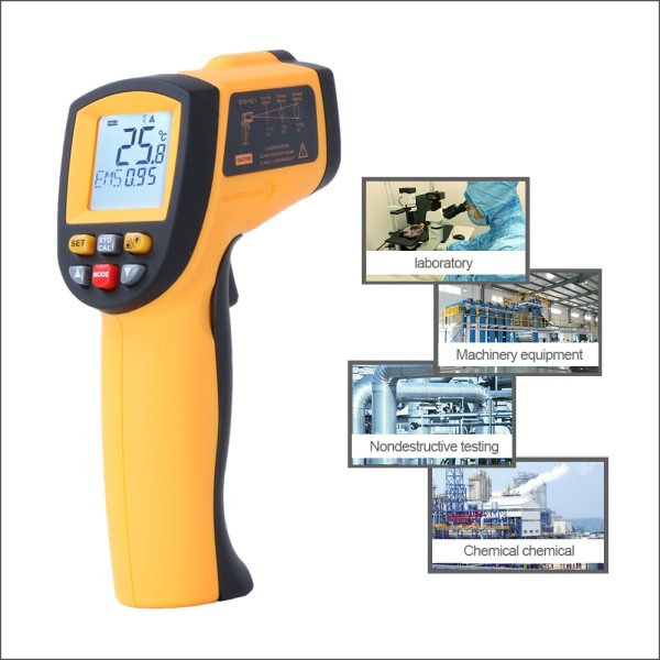 RZ IR Infrared Thermometer Thermal Imager Handheld Digital Electronic Outdoor Non Contact Laser Pyrometer Point Gun 5 RZ IR Infrared Thermometer Thermal Imager Handheld Digital Electronic Outdoor Non-Contact Laser Pyrometer Point Gun Thermometer