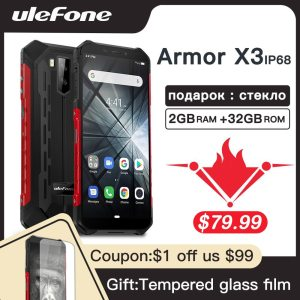 Ulefone Armor X3 Rugged Smartphone Android 9 0 IP68 Android 5 5 2GB 32GB 5000mAh 3G Innrech Market.com