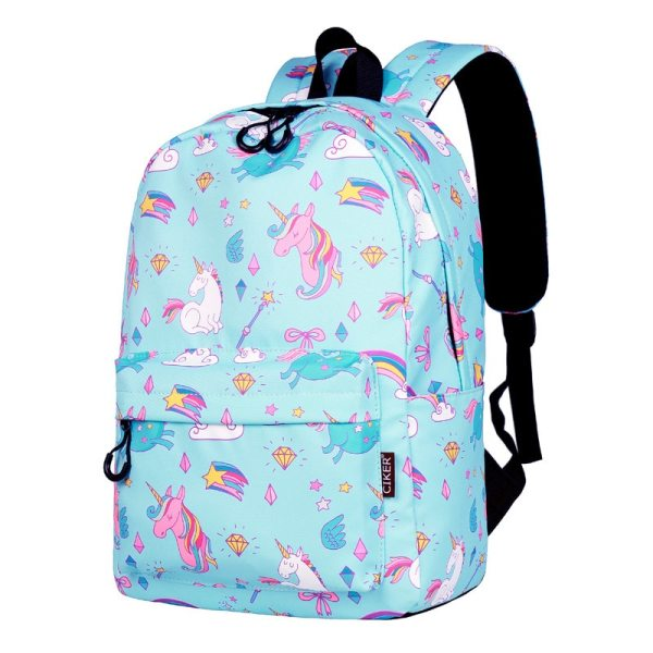 WINNER School Backpack Cartoon Rainbow Unicorn Design Water Repellent Backpack For Teenager Girls School Bags Mochila 3 WINNER School Backpack Cartoon Rainbow Unicorn Design Water Repellent Backpack For Teenager Girls School Bags Mochila 2019