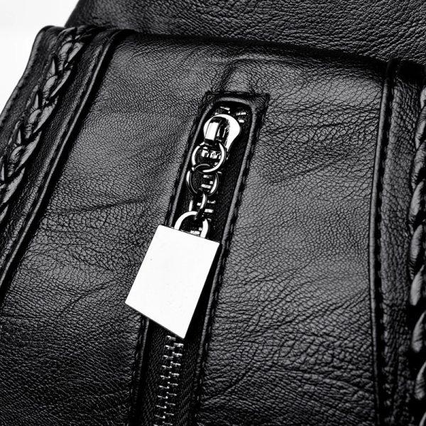 Women Leather Backpacks Zipper Female Chest Bag Sac a Dos Travel Back Pack Ladies Bagpack Mochilas 3 Women Leather Backpacks Zipper Female Chest Bag Sac a Dos Travel Back Pack Ladies Bagpack Mochilas School Bags For Teenage Girls