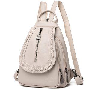 Women Leather Backpacks Zipper Female Chest Bag Sac a Dos Travel Back Pack Ladies Bagpack Mochilas Innrech Market.com