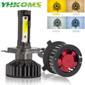 YHKOMS Canbus Car Headlight LED H4 H7 3000K 4300K 6500K 8000K LED Bulb H11 H8 H1 Innrech Market.com