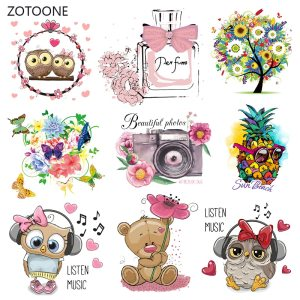 ZOTOONE Cute Cartoon Animal Patches Heat Transfer Iron on Patch for T Shirt Children Gift DIY Innrech Market.com