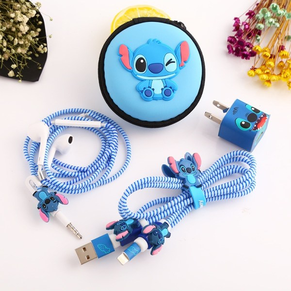 1 Set Cartoon USB Cable Protector Cable Winder Charger stickers Cable Wire Organizer TPU Spiral Cord 1 Set Cartoon USB Cable Protector Cable Winder Charger stickers Cable Wire Organizer TPU Spiral Cord protector For iphone 5 6 7