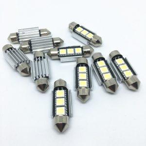 10pcs 36mm 39mm 41mm SMD 5050 LED White Blue Dome Festoon Car Light CANBUS Error Free Innrech Market.com