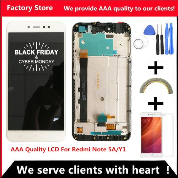 1920 1080 5 5 Inch AAA Quality LCD Frame For Xiaomi Redmi Note 5A LCD Display 1920*1080 5.5 Inch AAA Quality LCD+Frame For Xiaomi Redmi Note 5A LCD Display Screen For Redmi Note 5A Prime Y1 / Y1 Lite LCD