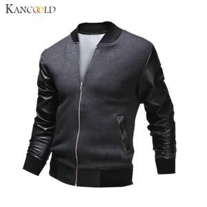 2017 New Fashion Men Luxury Slim Stylish Jackets Male Round Collar Long Sleeve Jacket Autumn Winter Innrech Market.com